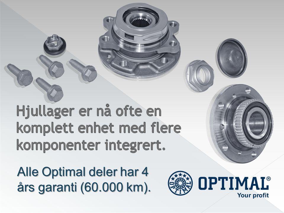 Alle Optimal deler har 4 års garanti (60.000 km).