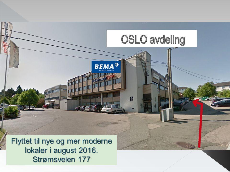 Flyttet til nye og mer moderne lokaler i august 2016. Strømsveien 177
