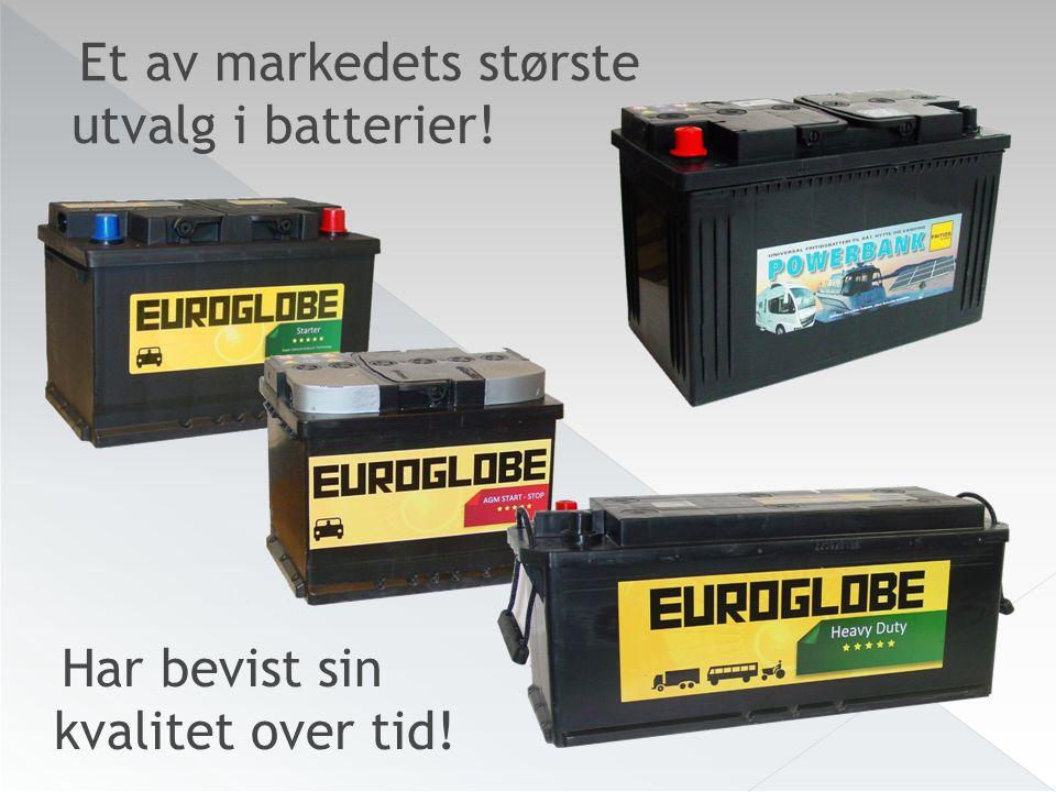 Har bevist sin kvalitet over tid! Et av markedets største utvalg i batterier!