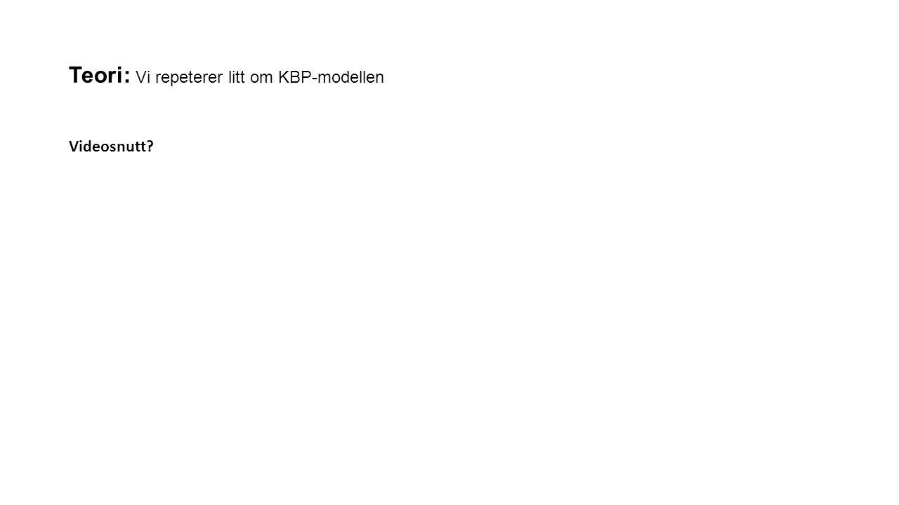 Teori: Vi repeterer litt om KBP-modellen Videosnutt