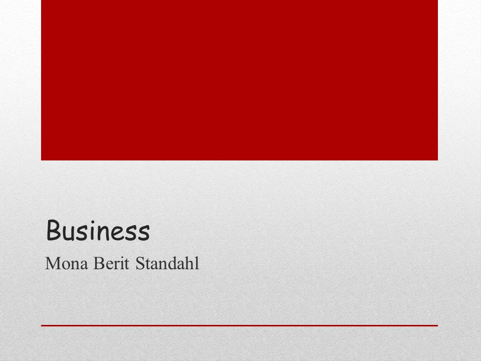 Business Mona Berit Standahl