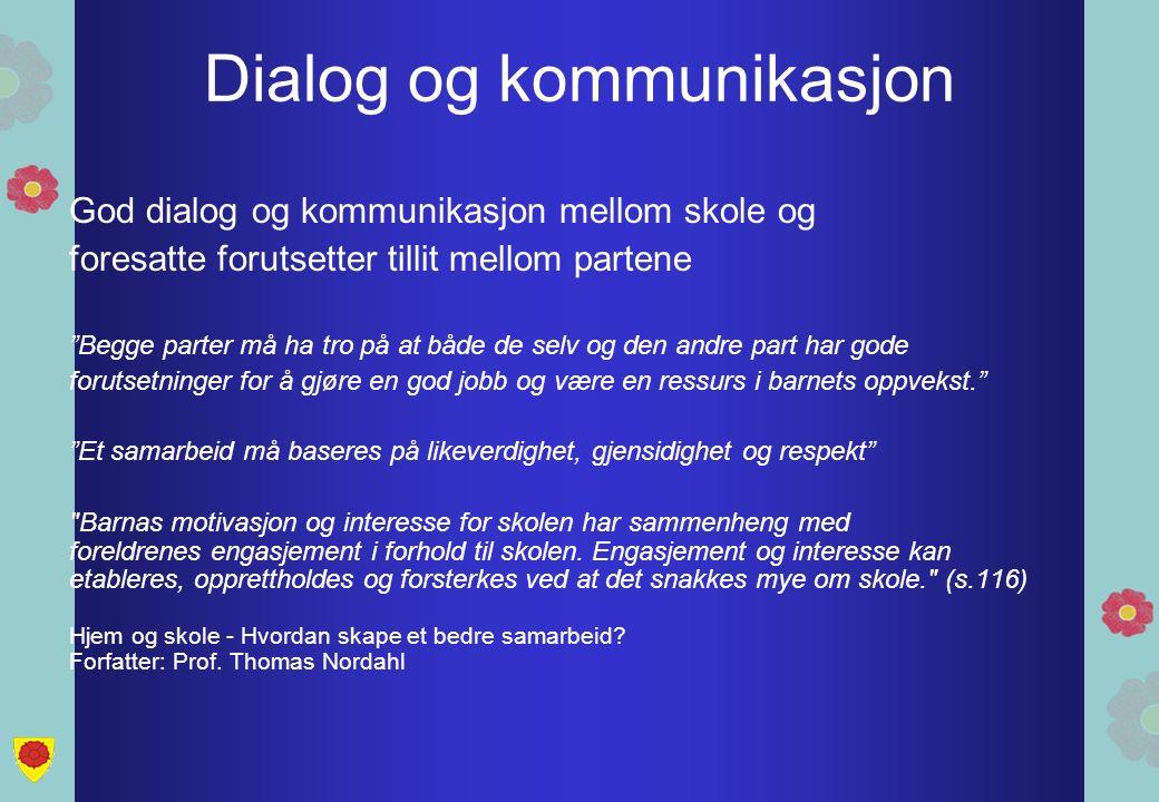Dialog og kommunikasjon Ærlig Tydelig Konstruktiv