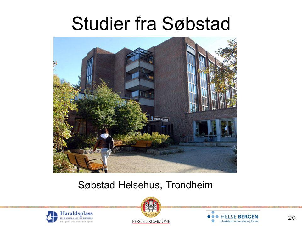 20 Studier fra Søbstad Søbstad Helsehus, Trondheim