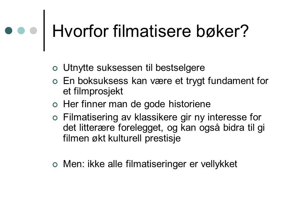 Hvorfor filmatisere bøker.