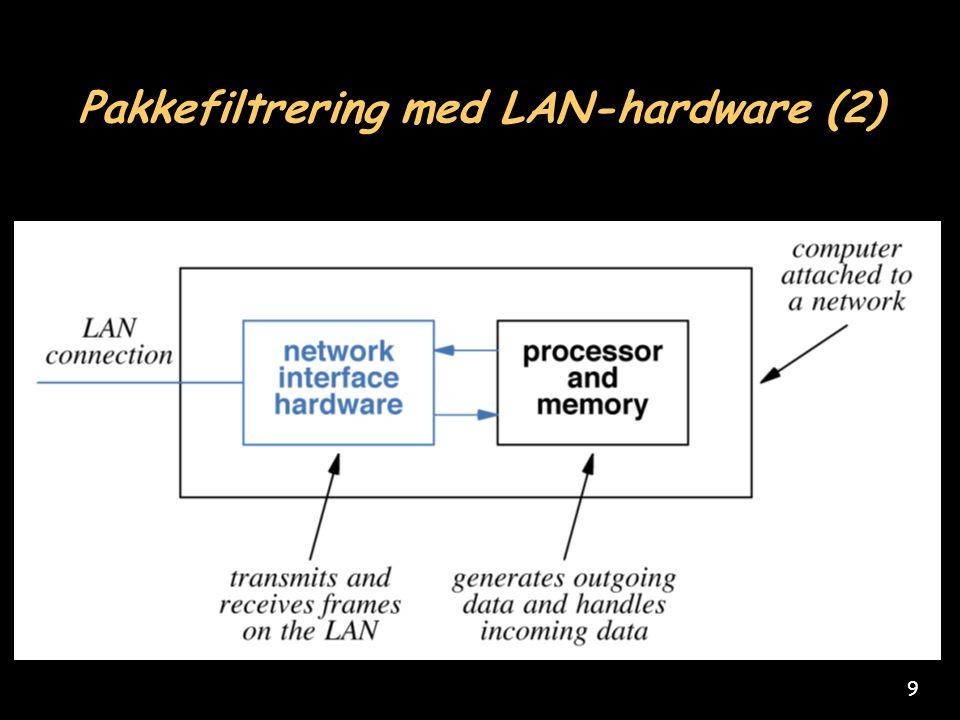 9 Pakkefiltrering med LAN-hardware (2)