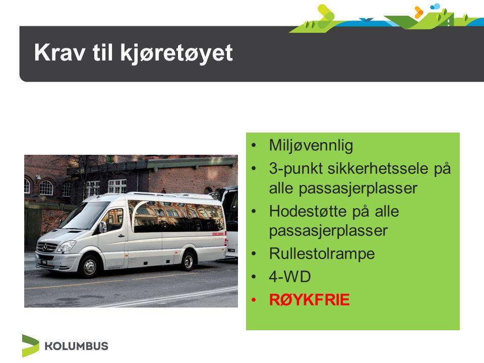 Definisjon av kjøretøy Normal bil: Plass til inntil 6 passasjerer.
