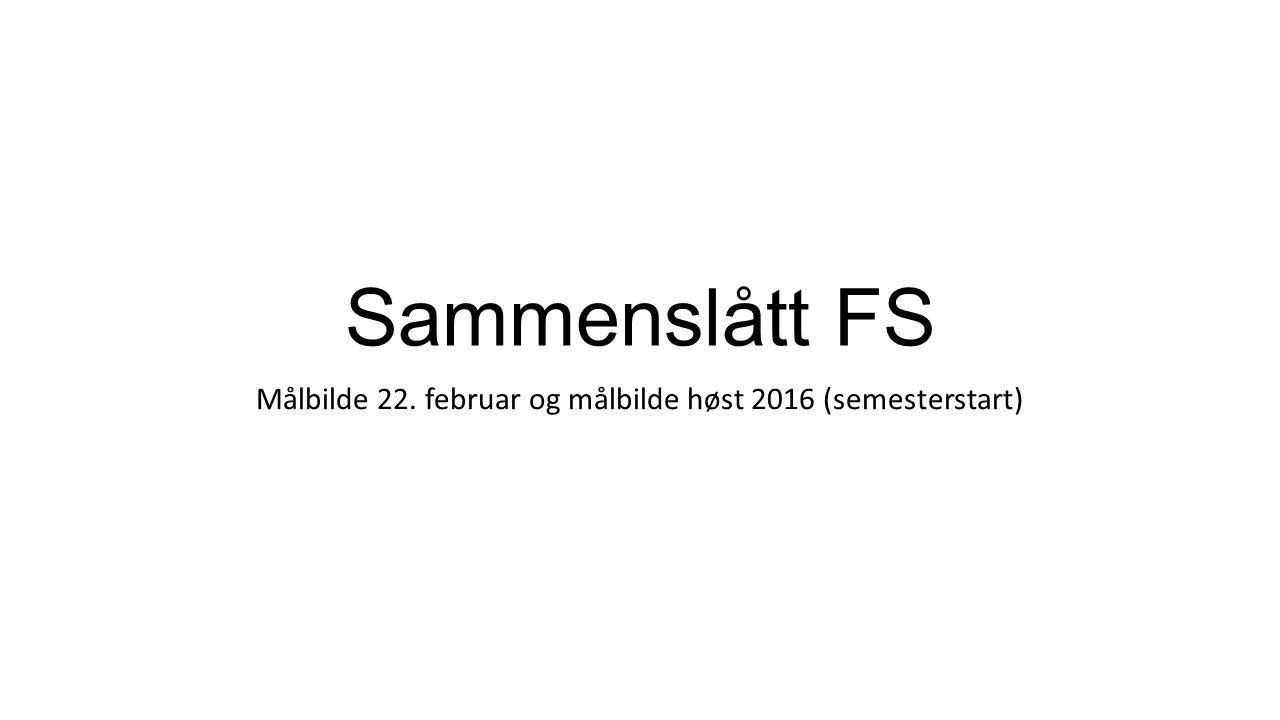 Sammenslått FS Målbilde 22. februar og målbilde høst 2016 (semesterstart)