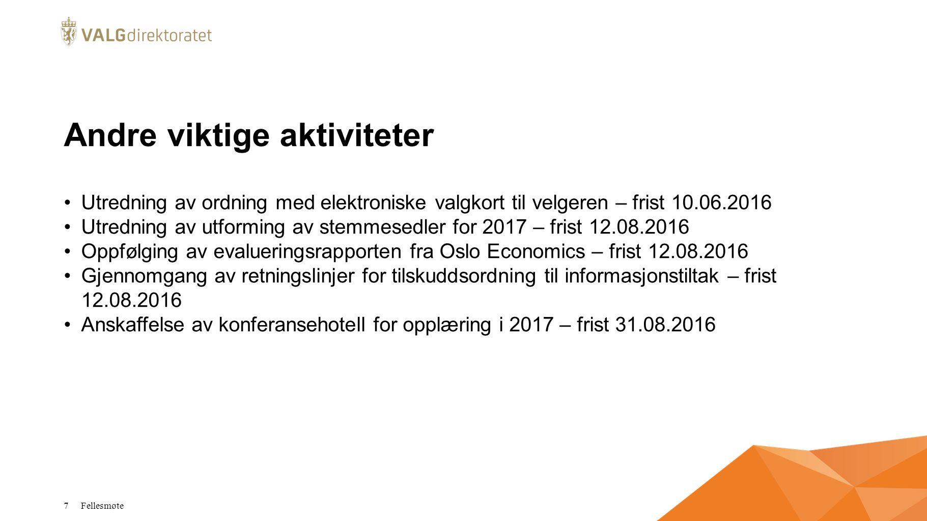 EVA Skanning Tilpasset til stortingsvalg 2013-ordning, tilrettelagt for evt.
