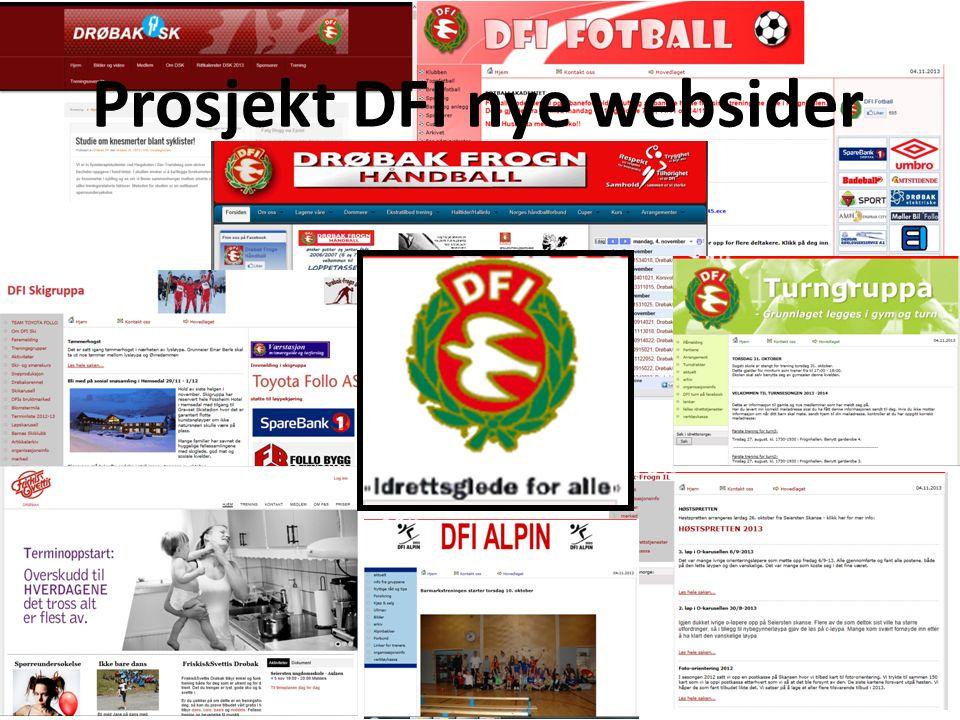 Prosjekt DFI nye websider