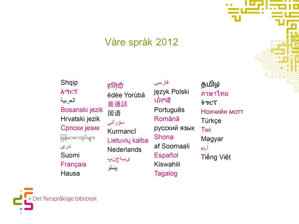Våre språk 2012