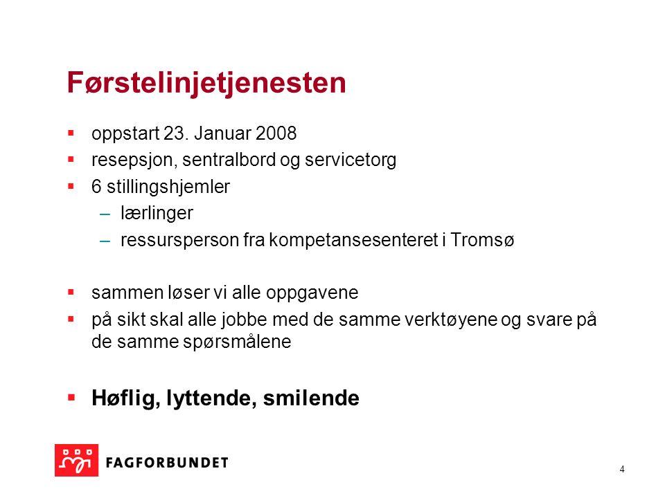 5 Førstelinjetjenesten  Per april 2010:  resepsjon, sentralbord/servicetorg, nettbutikken og vervepremier  8 stillingshjemler: –7 med kontorsted i Oslo, 1 med kontorsted i Tromsø –Lærlinger  sammen løser vi alle oppgavene  vi har fordelt hovedansvar for enkelte oppgaver  alle jobber med de samme verktøyene og svarer på de samme spørsmålene  Høflig, lyttende, smilende