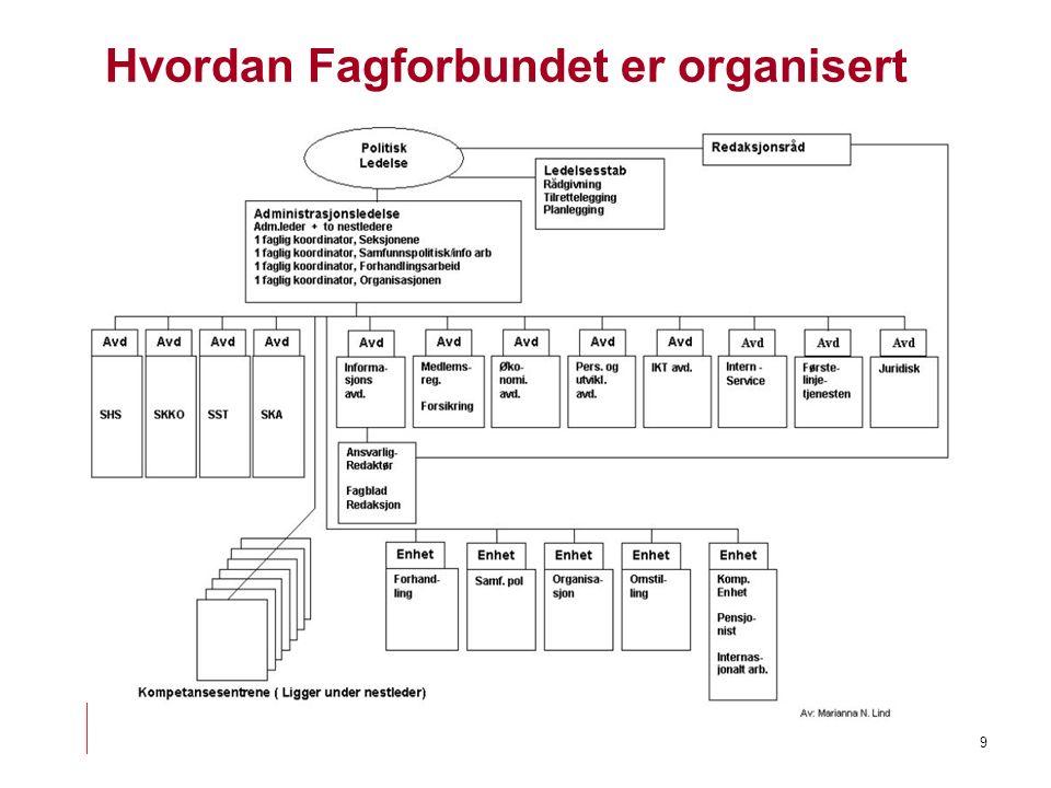 9 Hvordan Fagforbundet er organisert