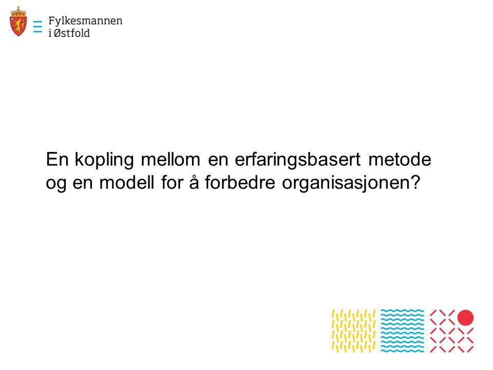 En kopling mellom en erfaringsbasert metode og en modell for å forbedre organisasjonen