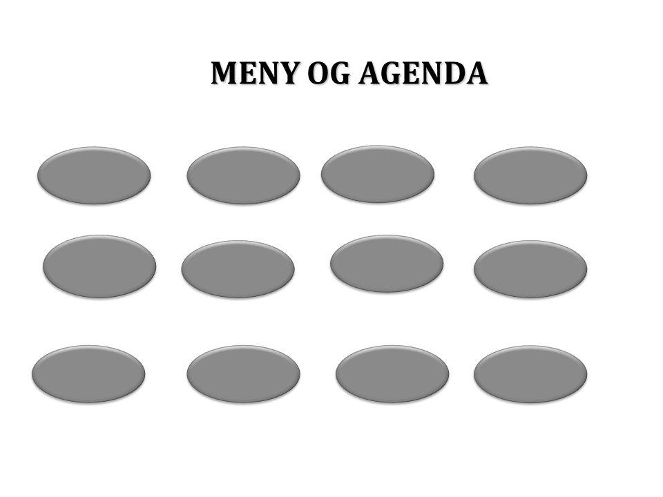 MENY OG AGENDA
