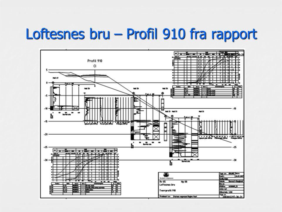 Loftesnes bru – Profil 910 fra rapport