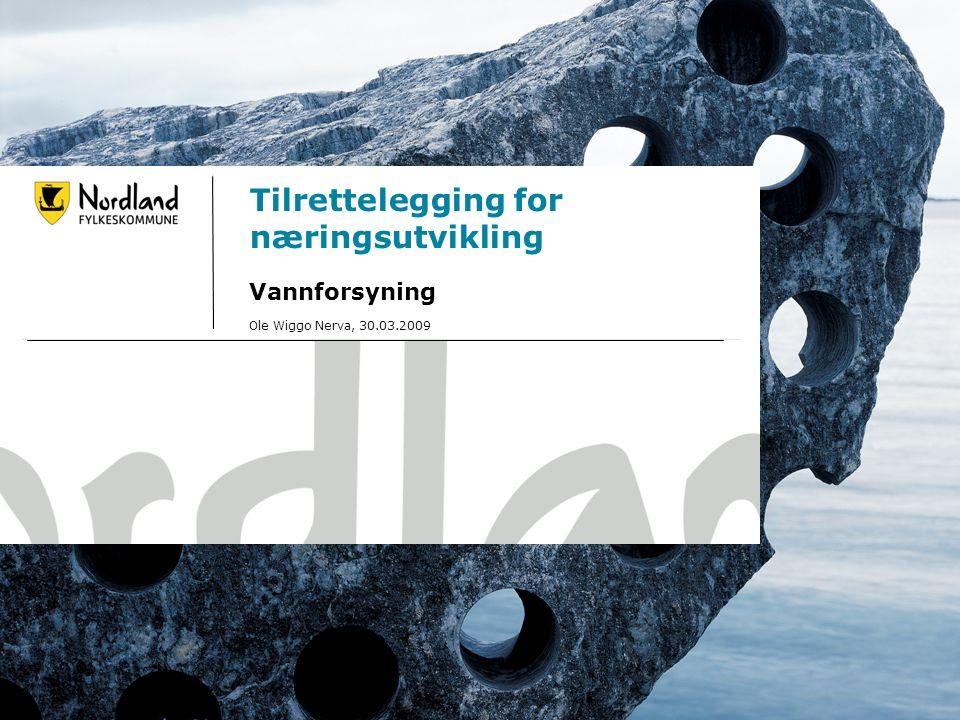 Svolvær 30.mars 2009 Tilrettelegging for næringsutvikling Vannforsyning Ole Wiggo Nerva, 30.03.2009