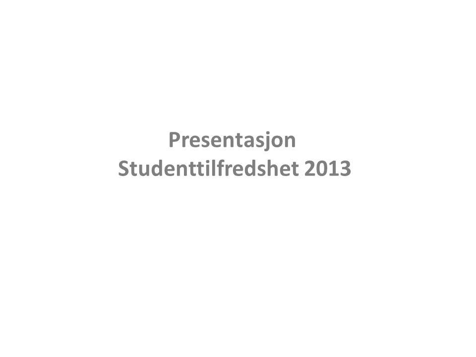 Studenttilfredshet 2013 Total tilfredshet