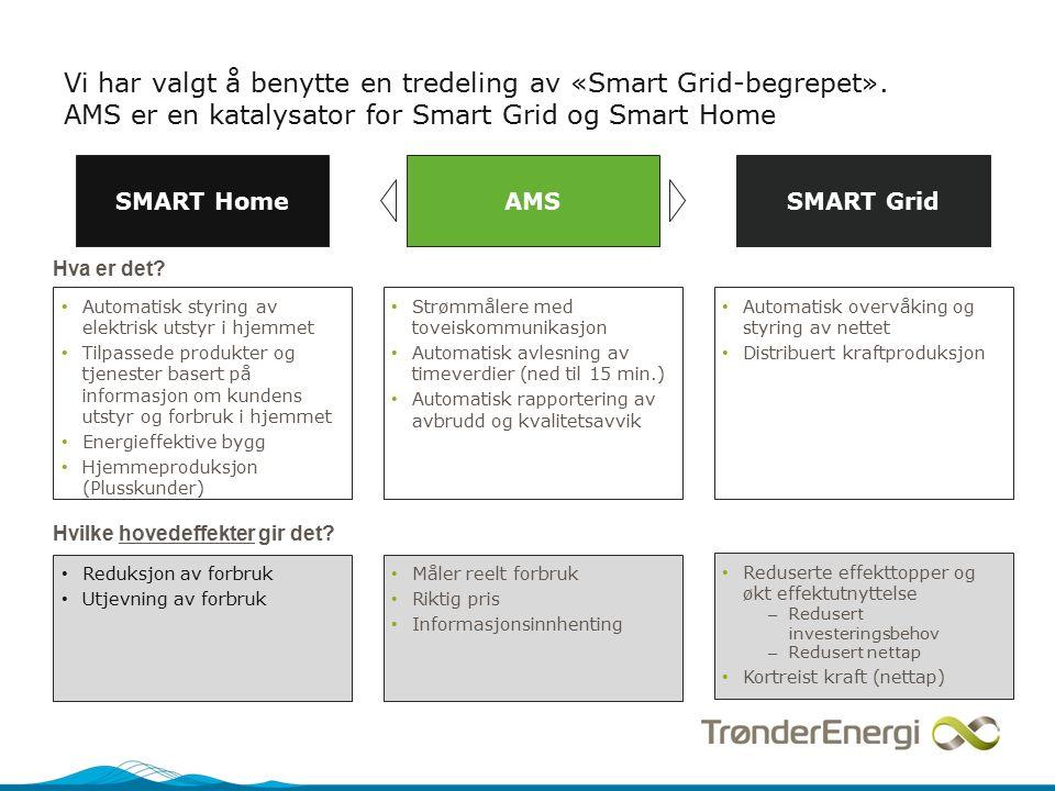 Vi har valgt å benytte en tredeling av «Smart Grid-begrepet».