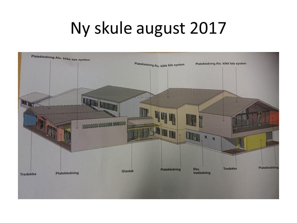 1.etasje: Nybygg (gul) : nye klasserom,4 nye spesialrom, bibliotek, kommunikasjonsareal, toalett Ombygging: klasserom, grupperom, garderobe, oppbevaringskap
