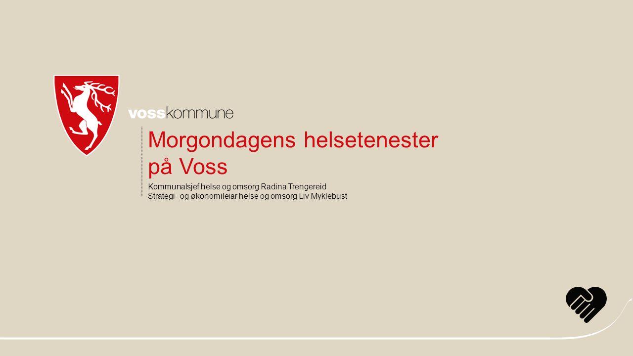 Kommunalsjef helse og omsorg Radina Trengereid Strategi- og økonomileiar helse og omsorg Liv Myklebust Morgondagens helsetenester på Voss