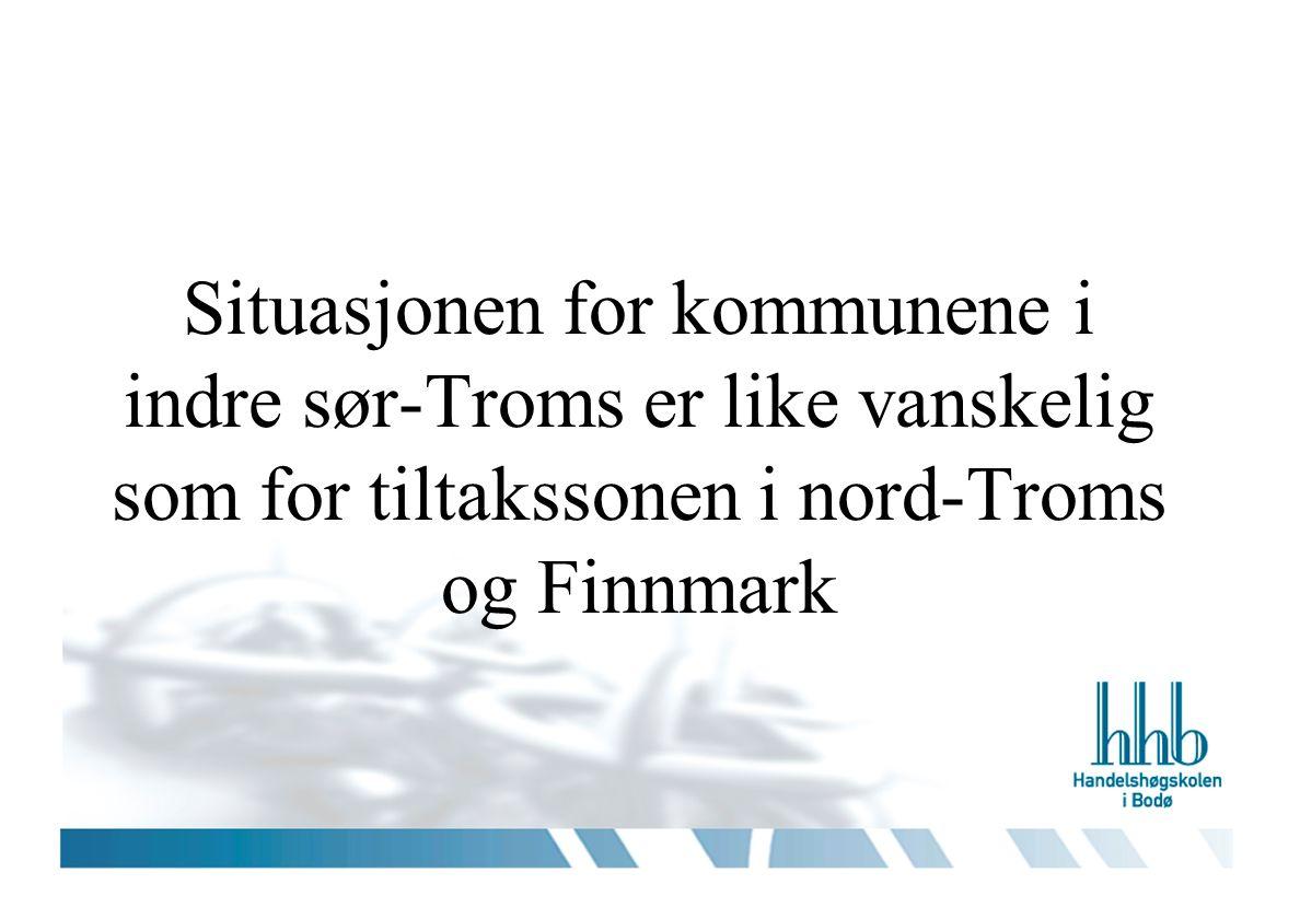 Ressurser knyttet til næringsutvikling i indre sør-Troms: Befolkning som er vant med hardt arbeide og å arbeide motstrøms Sterke tradisjoner for egensysselsetting som selvstendig næringsdrivende innenfor fiske, landbruk og bygg og anlegg Stor dyktighet innenfor tradisjonelle næringer som kan utnyttes i etablering av nye Sterke nyskapningskrefter og lokal stå på vilje innenfor politikk, forvaltning, og foreningsliv Mange utflyttere med sterke røtter til regionen gir mobiliserings- potensiale Flere gode forbilder i eksisterende bedriftsledere med stor nyskapningsvilje Pendlingsavstand og positivt samkvem med region –og servicesentraene Finnsnes, Narvik, Tromsø og Harstad Felles kulturarv