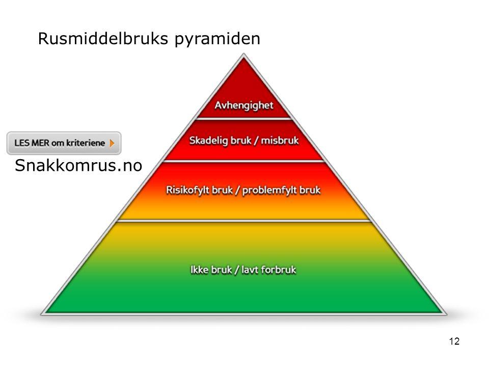 12 Rusmiddelbruks pyramiden Snakkomrus.no