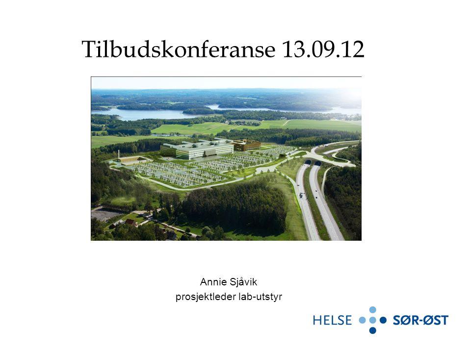 Annie Sjåvik prosjektleder lab-utstyr Tilbudskonferanse 13.09.12