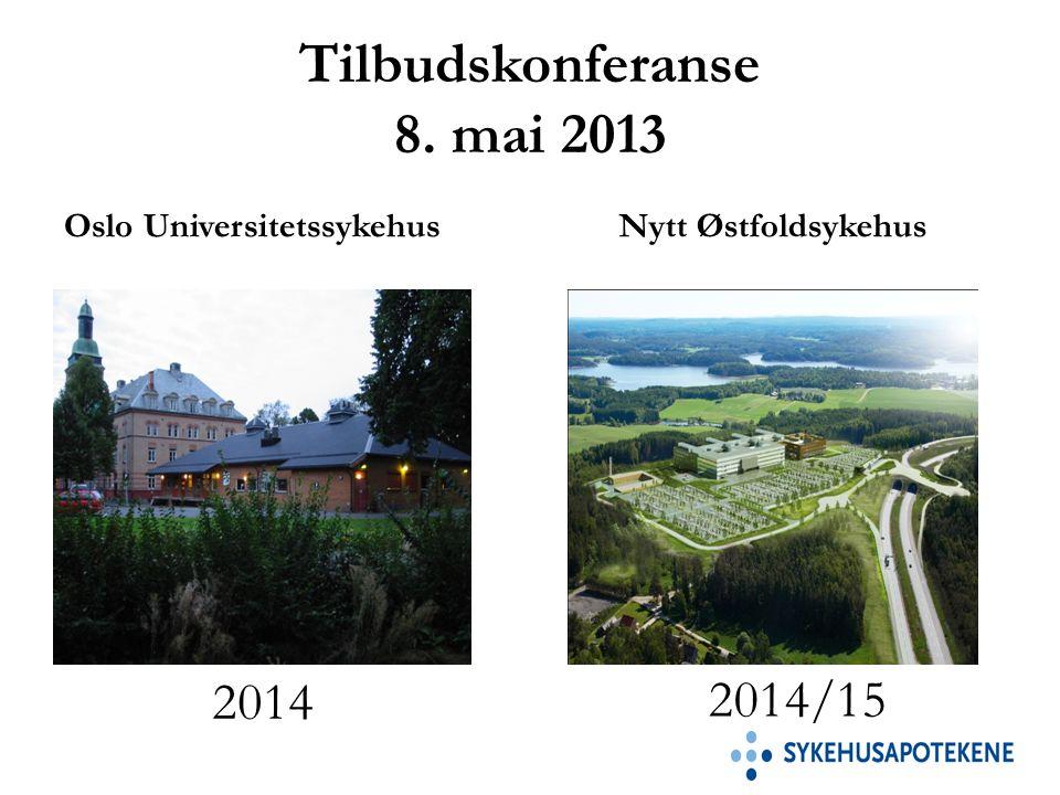 Tilbudskonferanse 8. mai 2013 Oslo UniversitetssykehusNytt Østfoldsykehus 2014 2014/15