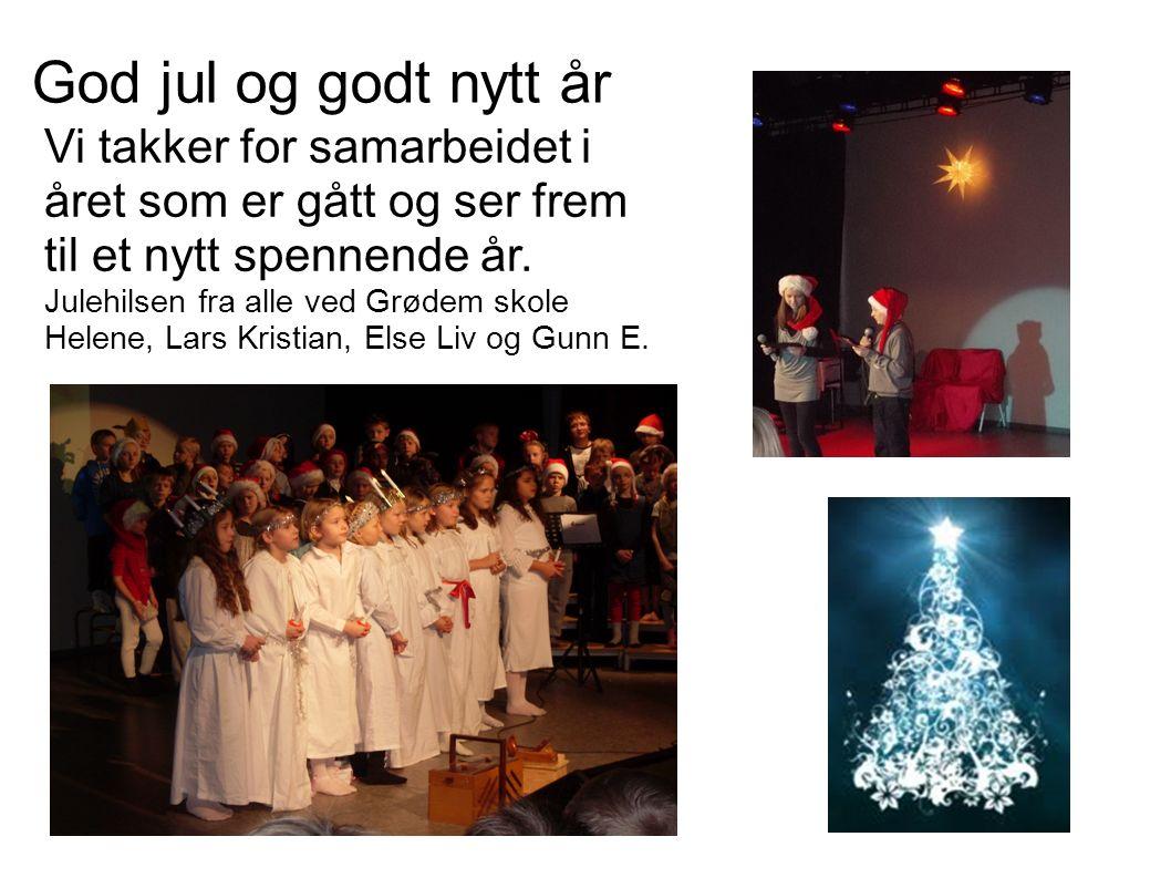 God jul og godt nytt år Vi takker for samarbeidet i året som er gått og ser frem til et nytt spennende år.