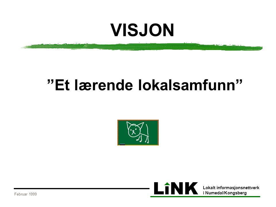 LiNK Lokalt informasjonsnettverk i Numedal/Kongsberg Februar 1999 Overordnede mål  Høyne den generelle IKT kompetansen  Utvikle kompetanse gjennom livslang læring