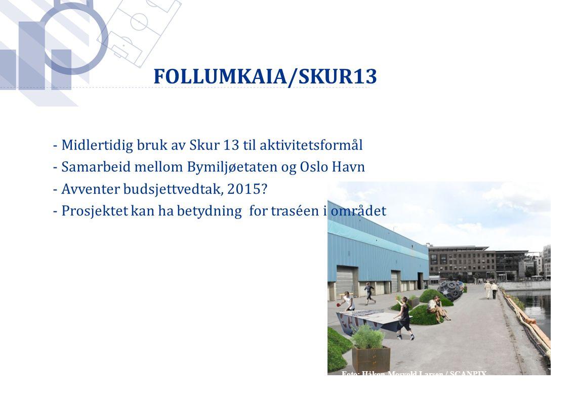 Foto: Håkon Mosvold Larsen / SCANPIX - Midlertidig bruk av Skur 13 til aktivitetsformål - Samarbeid mellom Bymiljøetaten og Oslo Havn - Avventer budsj
