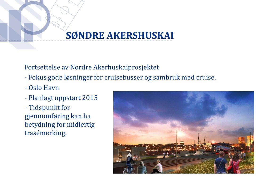Foto: Håkon Mosvold Larsen / SCANPIX Fortsettelse av Nordre Akerhuskaiprosjektet - Fokus gode løsninger for cruisebusser og sambruk med cruise. - Oslo