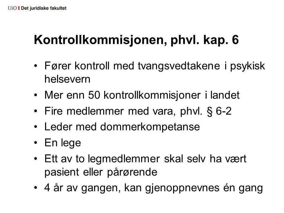 Kontrollkommisjonen, phvl. kap.