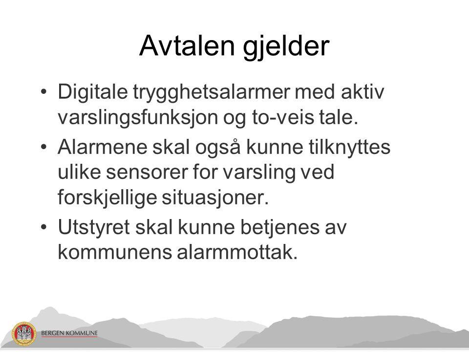 Dagens arbeidsprosesser Forvaltningsenheten Bergen legevakt Hjemmesykepleien Servicemannstjenesten Andre