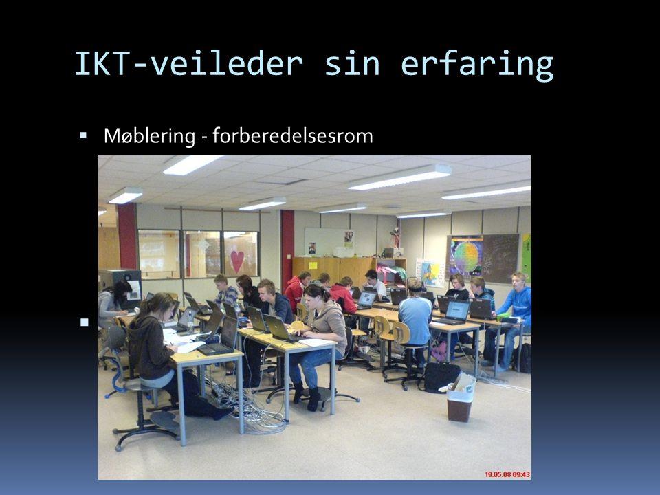 IKT-veileder sin erfaring  Møblering - forberedelsesrom 