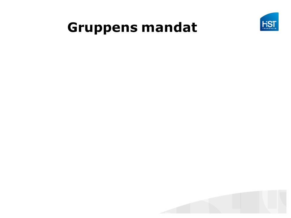 Gruppens mandat