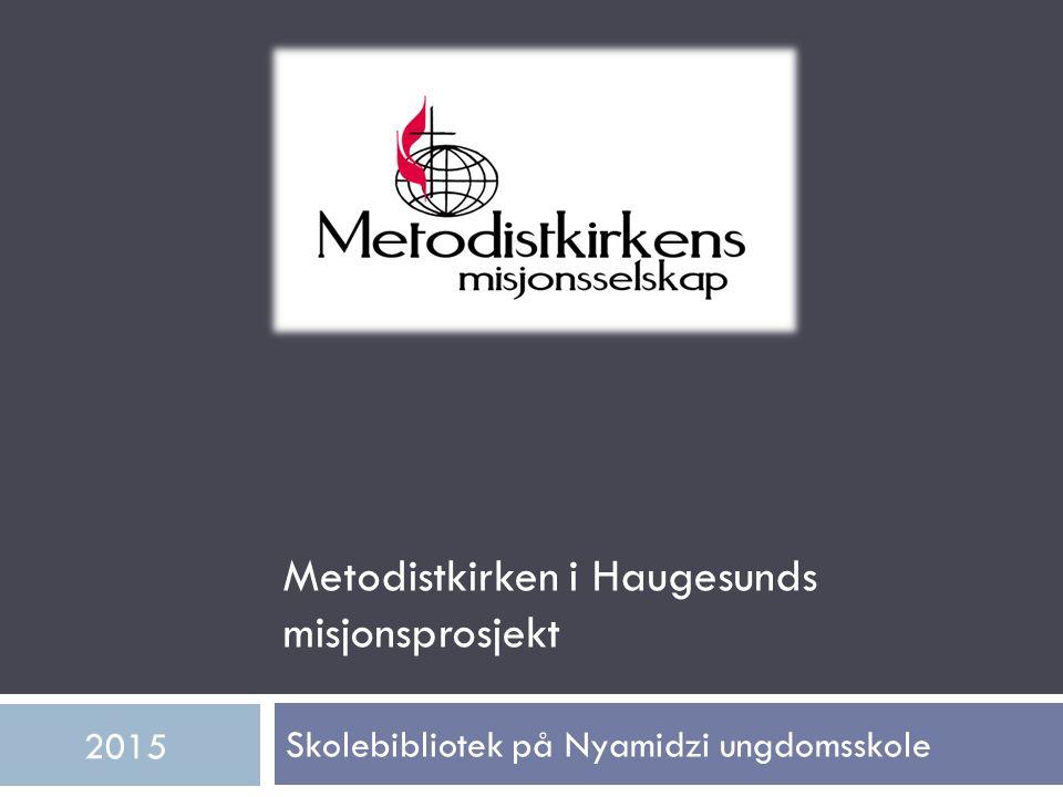 Skolebibliotek på Nyamidzi ungdomsskole 2015 Metodistkirken i Haugesunds misjonsprosjekt