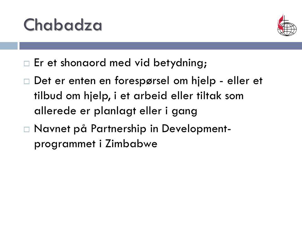 Chabadza  Er et shonaord med vid betydning;  Det er enten en forespørsel om hjelp - eller et tilbud om hjelp, i et arbeid eller tiltak som allerede