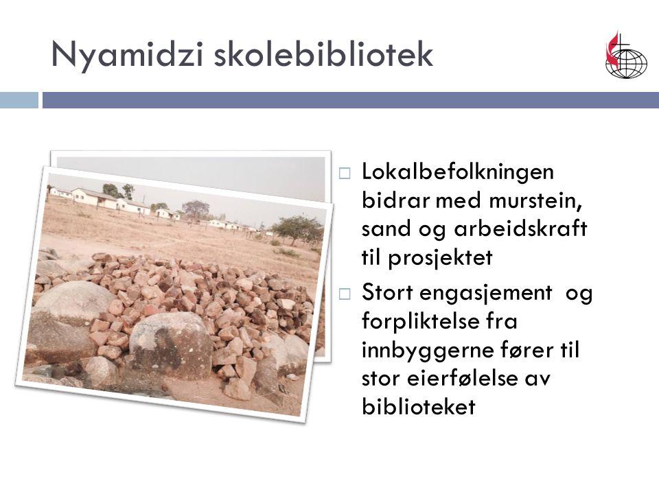  Lokalbefolkningen bidrar med murstein, sand og arbeidskraft til prosjektet  Stort engasjement og forpliktelse fra innbyggerne fører til stor eierfø