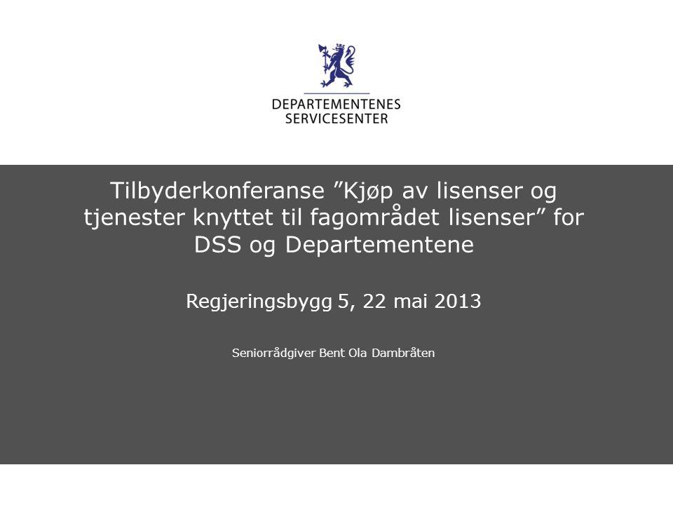 Departementenes servicesenter Norsk mal: Sluttside Tips bildekreditering: Alle bilder brukt i presentasjonen må krediteres for eksempel slik: Slide nr.