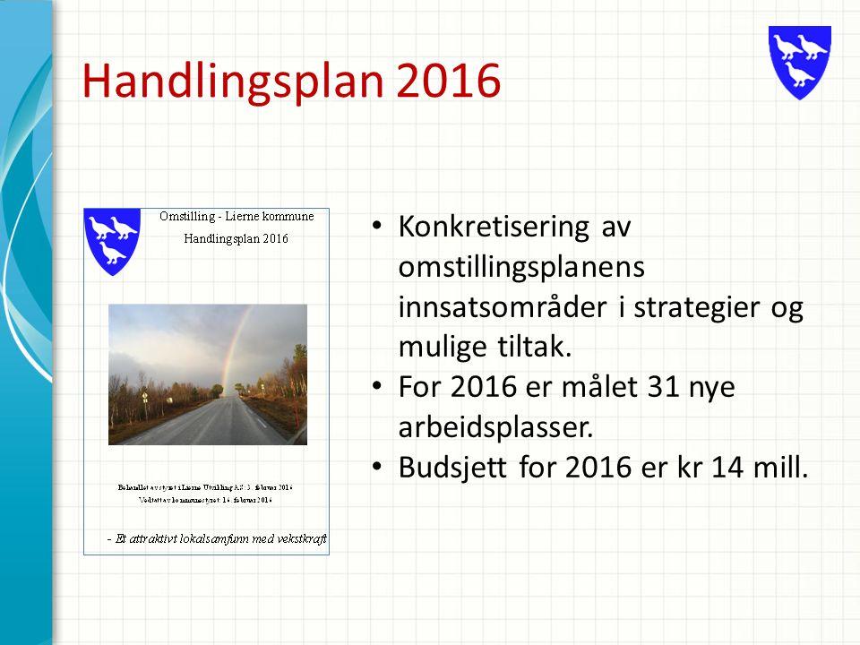 Handlingsplan 2016 Konkretisering av omstillingsplanens innsatsområder i strategier og mulige tiltak.