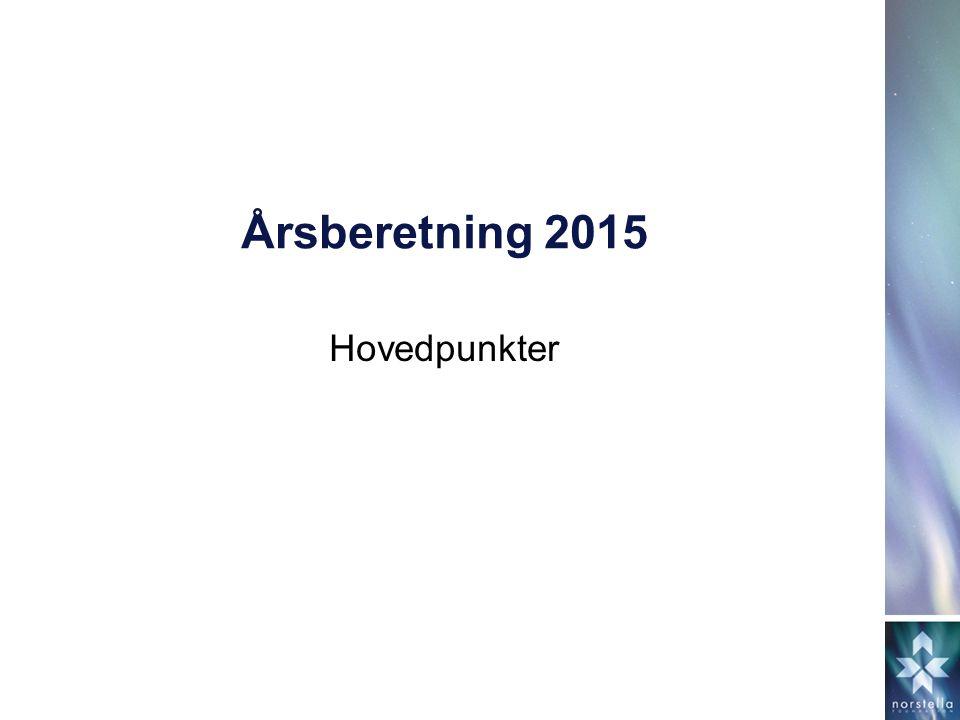 Årsberetning 2015 Hovedpunkter