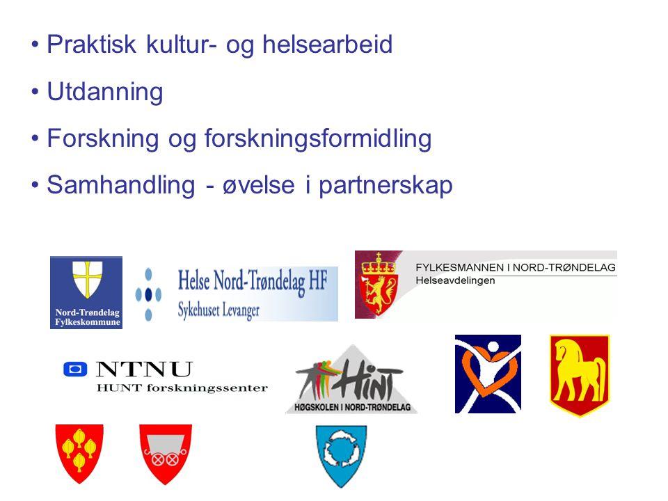 FOLK 2 (2004-2009) Et femårig kultur- og helseprosjekt hvor kulturelle aktiviteter benyttes som virkemiddel i folkehelsearbeidet En del av fylkeskommunens folkehelsearbeid Aktører i kjernepartnerskapet :