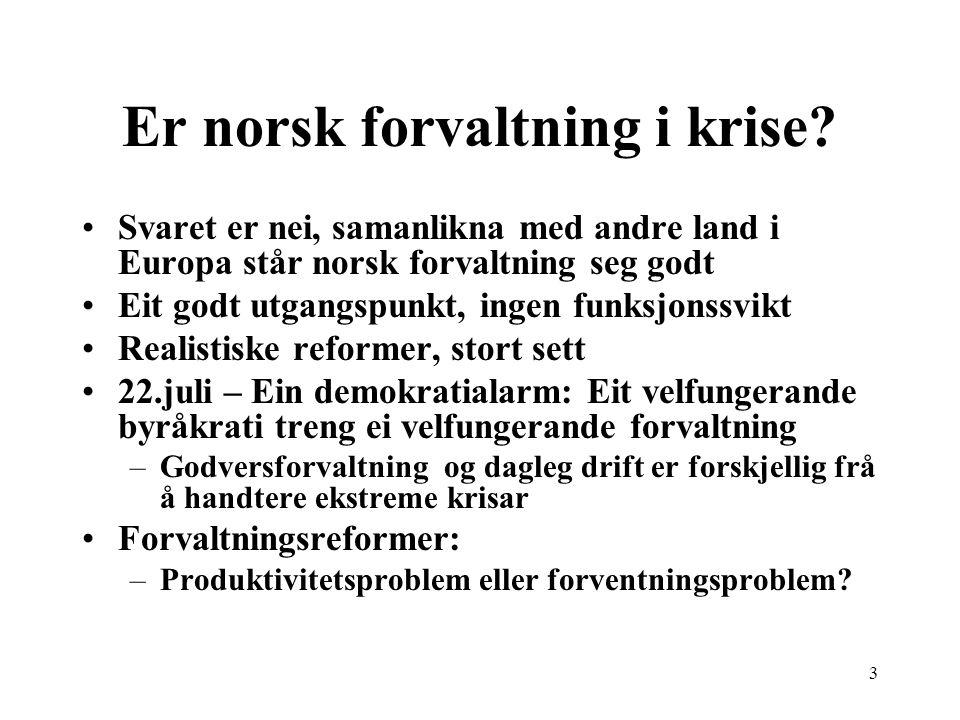 Er norsk forvaltning i krise.