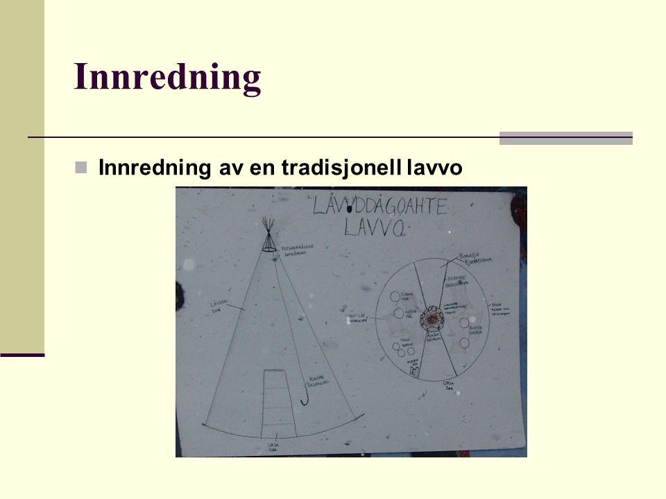Innredning Innredning av en tradisjonell lavvo