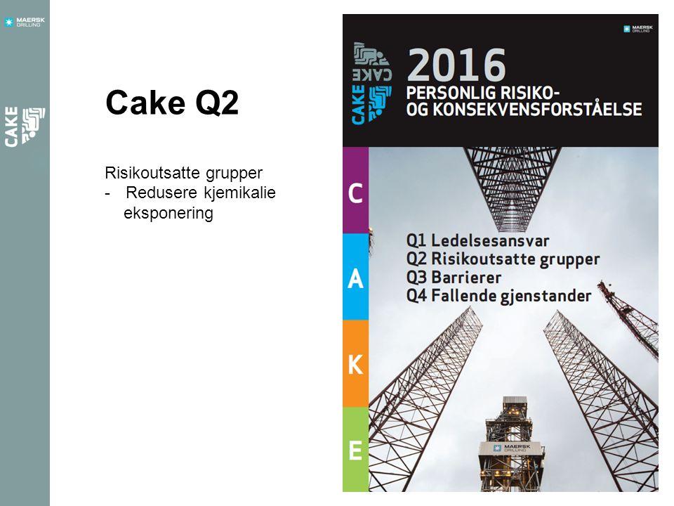 Cake Q2 Risikoutsatte grupper -Redusere kjemikalie eksponering