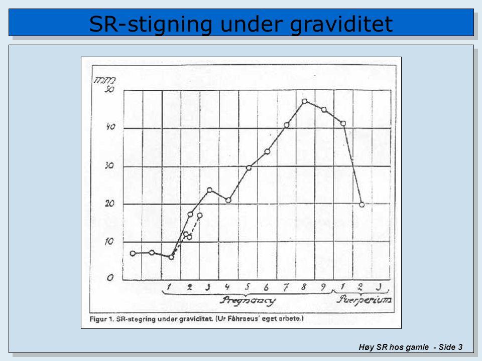 SR-stigning under graviditet Høy SR hos gamle - Side 3