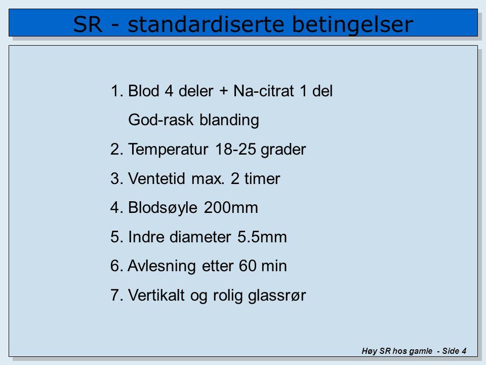 SR - standardiserte betingelser Høy SR hos gamle - Side 4 1.
