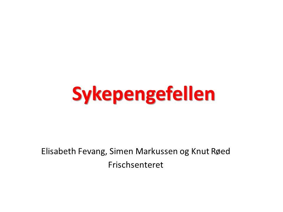 Sykepengefellen Elisabeth Fevang, Simen Markussen og Knut Røed Frischsenteret
