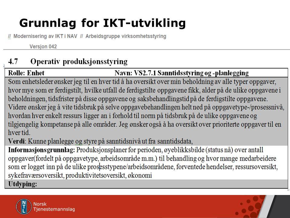 Grunnlag for IKT-utvikling